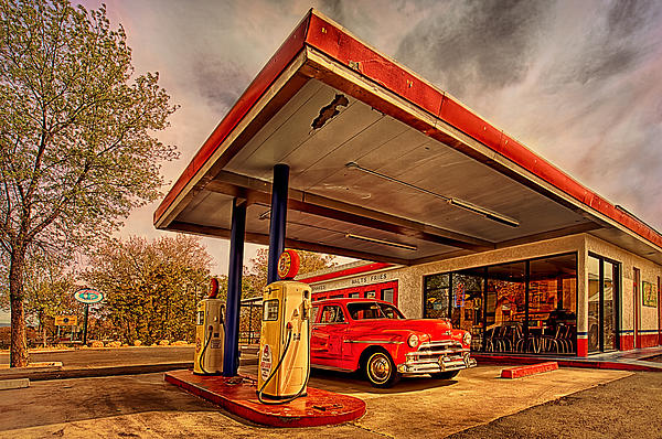 Bings Burger Station In Historic Old Town Cottonwood Arizona Print by Priscilla Burgers