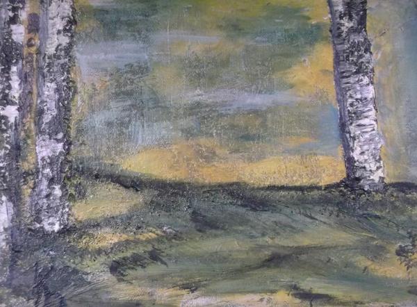 Birch Landscape Print by Karen Butscha