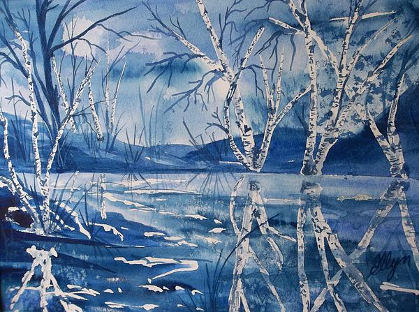 Ellen Levinson - Birches in Blue