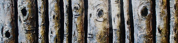 Birches Standing Before You Print by Lori McPhee