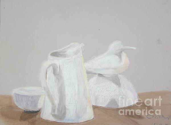 Bird And Pitcher Print by Christopher Murphy