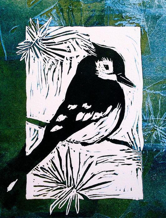 Bird Linocut 3 Print by Penny OHalloran