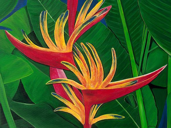 Bird Of Paradise Painting Print by Lisa Bentley