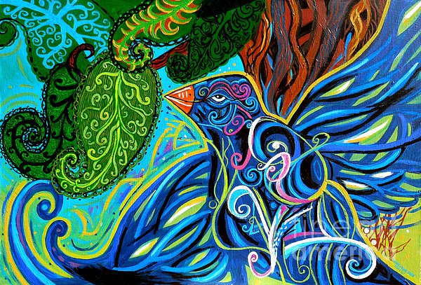 Bird Song Print by Genevieve Esson