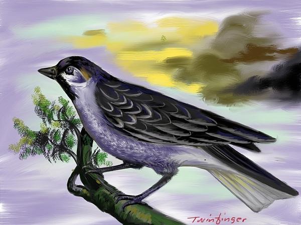 Bird Print by Twinfinger