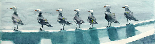 Bird Watchers Print by Faythe Mills