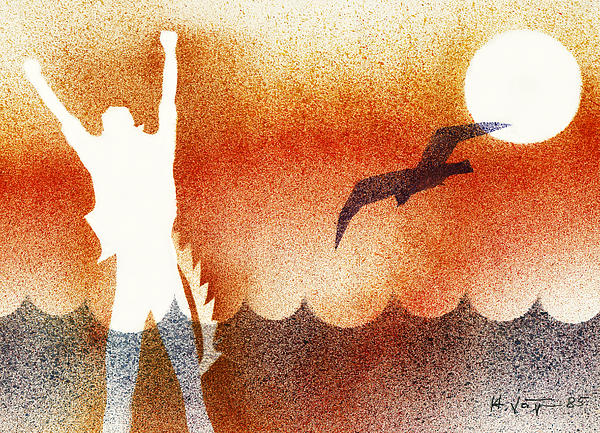 Birdman Print by Hartmut Jager