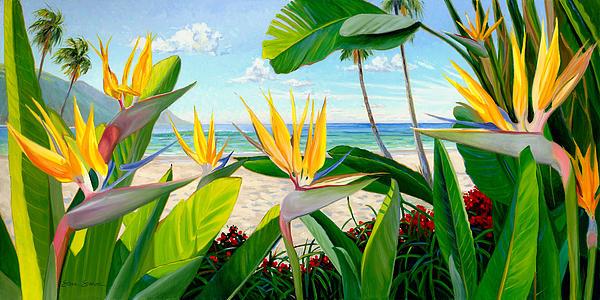Birds Of Paradise Print by Steve Simon
