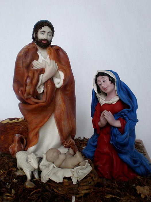 Birth Of Jesus Print by Natalia Elerdashvili