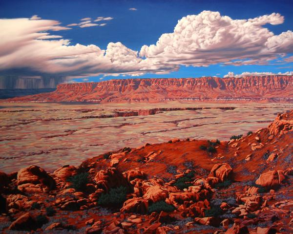 Birth Of The Canyon Print by Cheryl Fecht