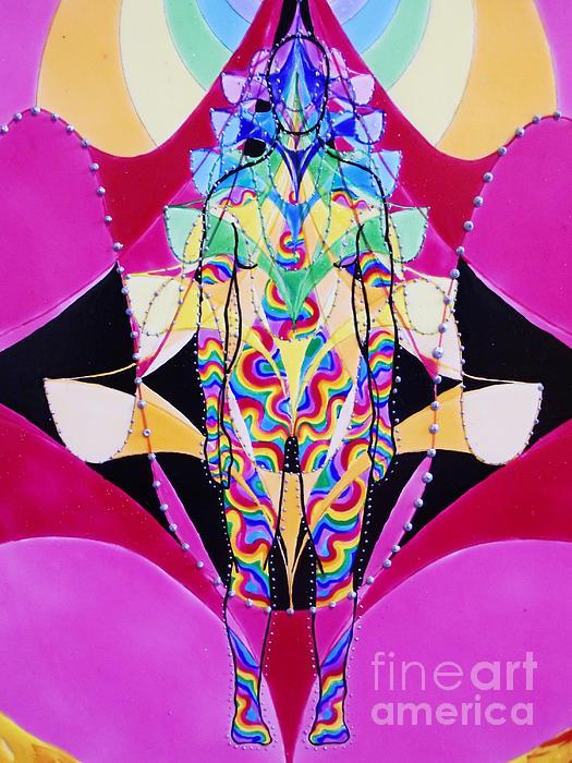 Birth Of The Flying Rainbow Lasagne Print by Nofirstname Aurora