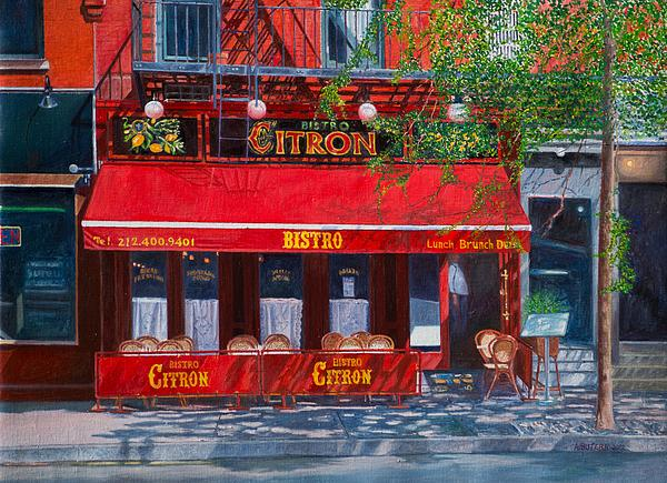 Bistro Citron New York City Print by Anthony Butera
