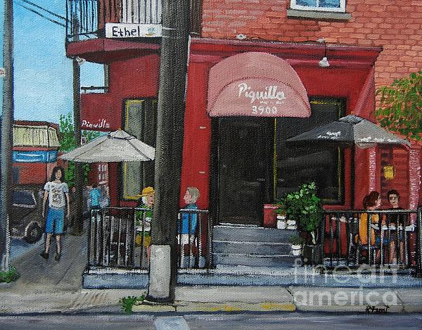 Bistro Piquillo in Verdun Painting