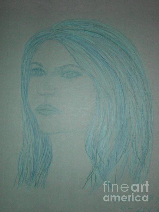 Biviana In Blue Print by James Eye
