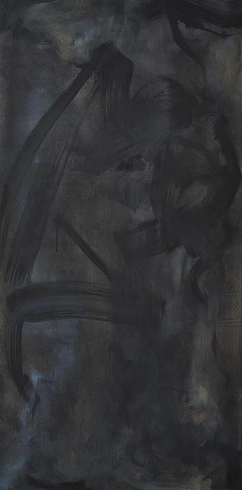 Black Abstract Print by Wayne Carlisi