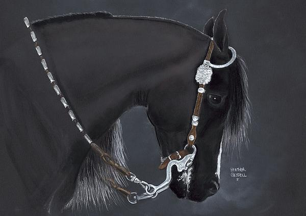Black Arabian Print by Heather Gessell