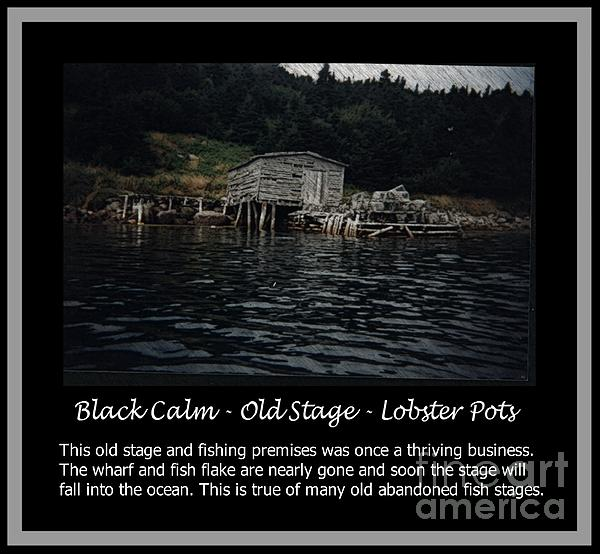 Black Calm - Old Stage - Lobster Pots Print by Barbara Griffin