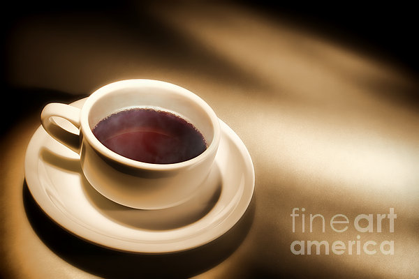 Black Coffee Print by Olivier Le Queinec
