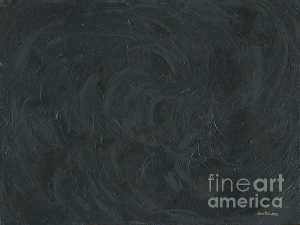 Black Color Of Energy Print by Ania M Milo