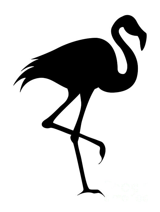 Black Flamingo Silhouette Shower Curtain For Sale By Tigerlynx