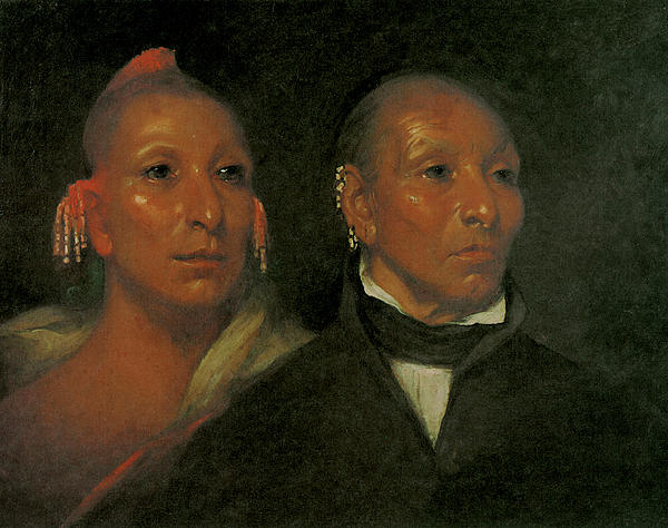 Black Hawk And His Son Whirling Thunder Print by John Wesley Jarvis