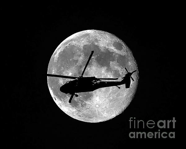 Black Hawk Moon Print by Al Powell Photography USA