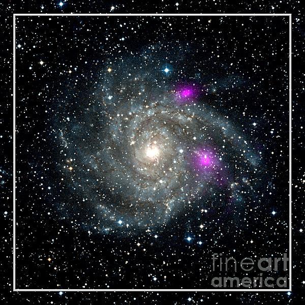 Black Holes In Spiral Galaxy Nasa Print by Rose Santuci-Sofranko
