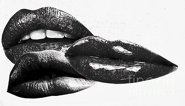 Black Lips Print by M and L Creations