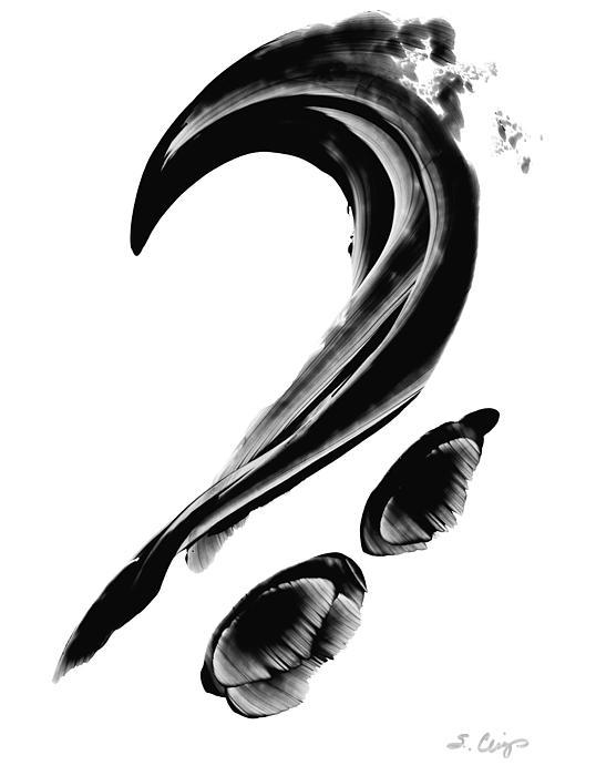 Black Magic 300 - Black And White Art Print by Sharon Cummings