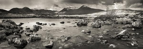 Black Mount From Rannoch Moor Print by Maciej Markiewicz