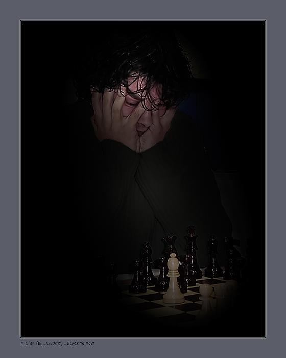Black To Move Print by Pedro L Gili