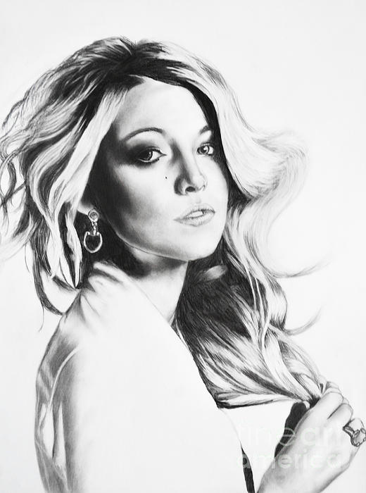 Blake Lively Print by Michael Durocher