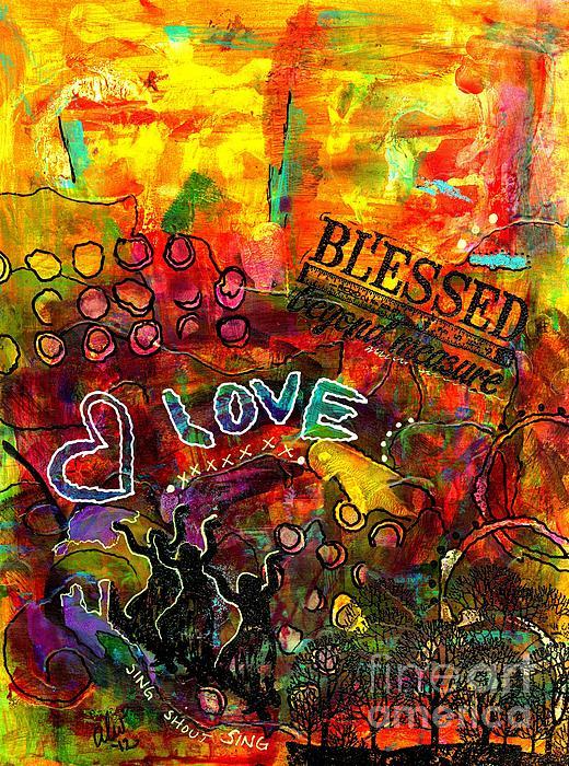 Blessed Beyond Measure Print by Angela L Walker