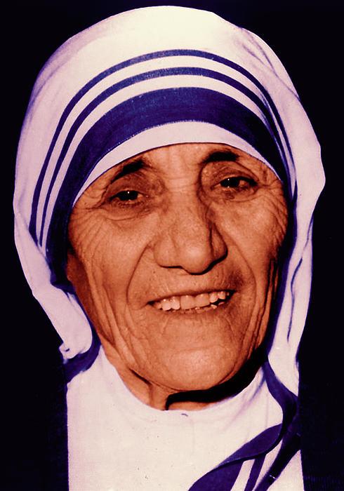 Blessed Teresa Of Calcutta Print by Li   van Saathoff