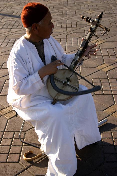 Blind Man Place Djemna Al Fna Marrakesh Morocco Print by ArtPhoto-Ralph A  Ledergerber-Photography