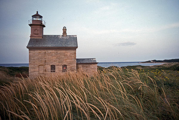 Block Island North West Lighthouse Print by Skip Willits