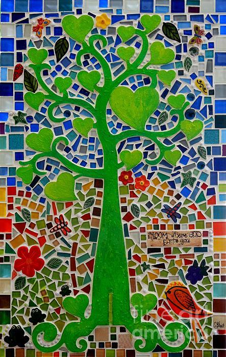 Bloom Where God Plants You Print by Caroline Street