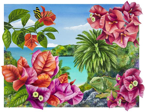 Blossom Bower Print by Carolyn Steele