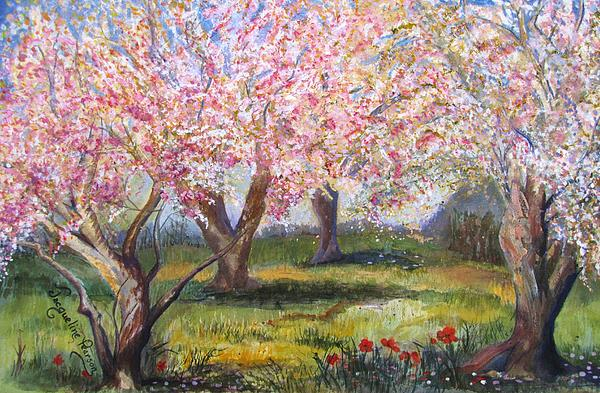 Blossomtime Print by Jacqueline Pearson