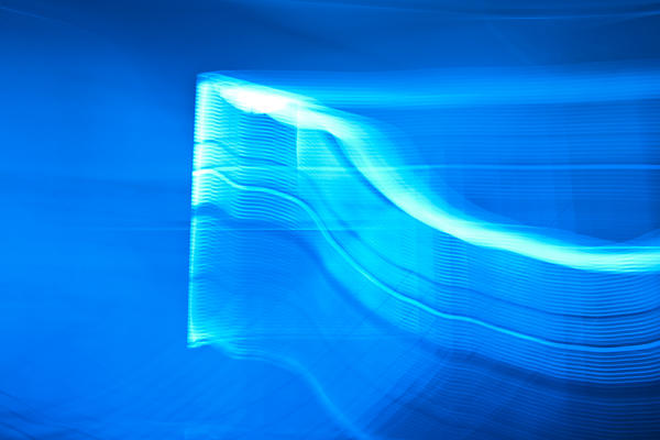Blue Abstract 3 Print by Mark Weaver