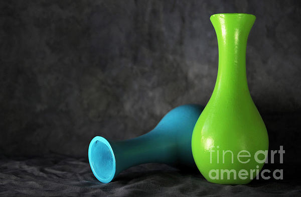 Blue And Green Print by Dan Holm