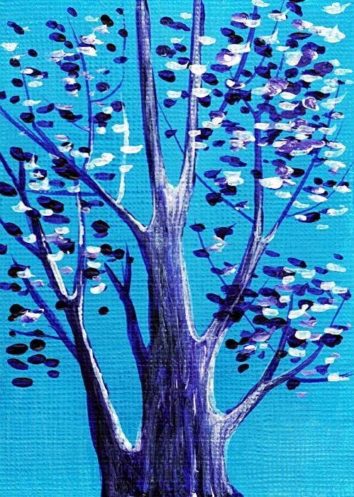 Blue And White Print by Anastasiya Malakhova