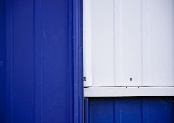 Blue And White Print by Christi Kraft