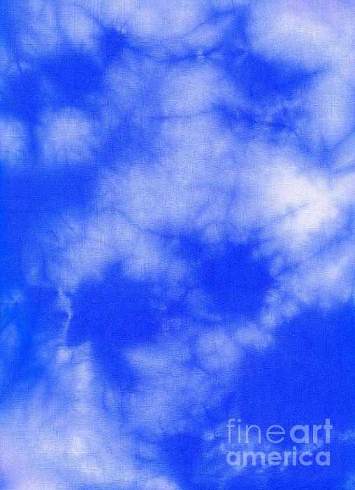 Blue Batik Pattern  Print by Kerstin Ivarsson
