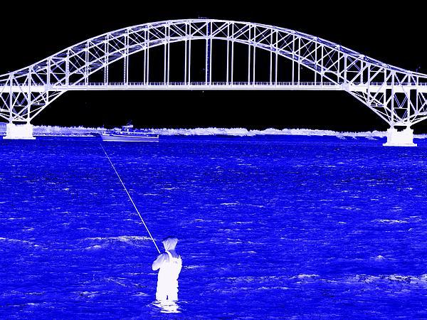 Blue Bay Bridge Print by Ed Weidman