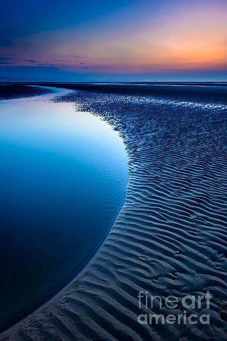 Blue Beach  Print by Adrian Evans