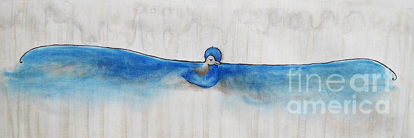 Blue Bird Of Happiness Print by Carrie Jackson