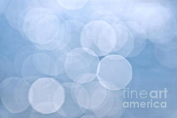 Blue Bokeh Background Print by Elena Elisseeva