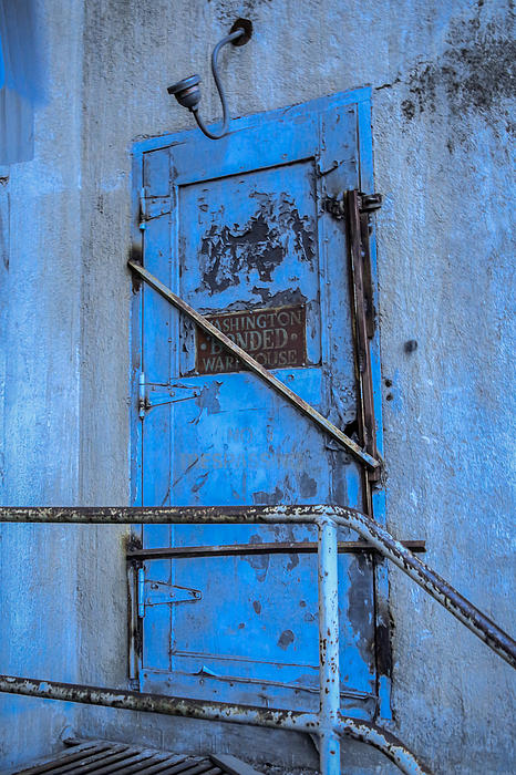 Blue Door On The Silo Print by Daniel Baumer