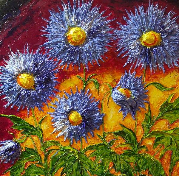 Blue Flowers Print by Paris Wyatt Llanso